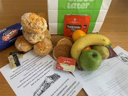 Contents of a food bag provided by Menstrie Community Council