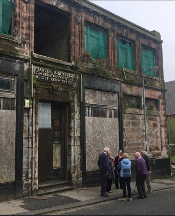 The old Co-op building in Darvel