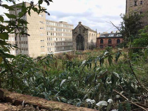 A derelict site at Jeffrey Street Edinburgh