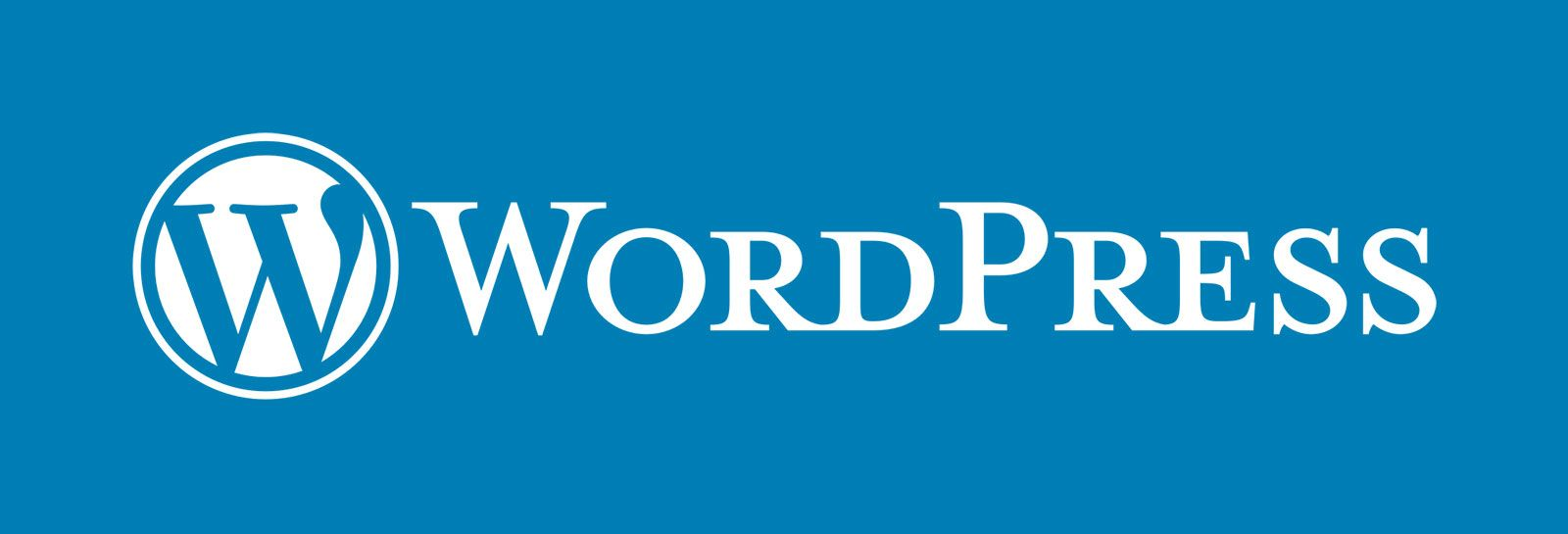 Wordpress logo on blue background banner image