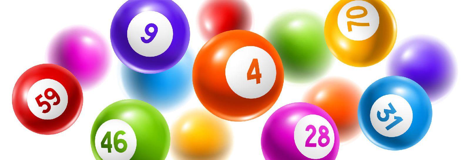multicoloured lottery balls banner image
