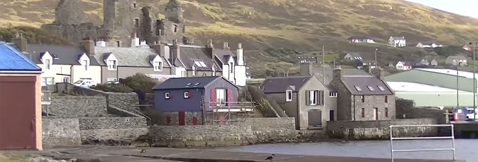 View of Scalloway from harbour banner image