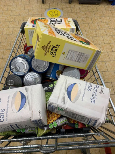 Supporting the local food banks. Credit: GDCC