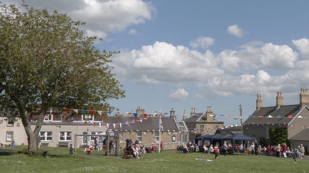 A summer fete on Gavinton village green