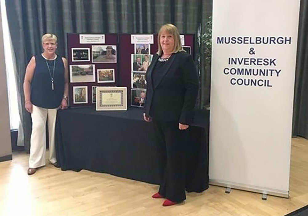 Chair Irene Tait and Secretary Margaret Stewart of Musselburgh and Inveresk Community Council